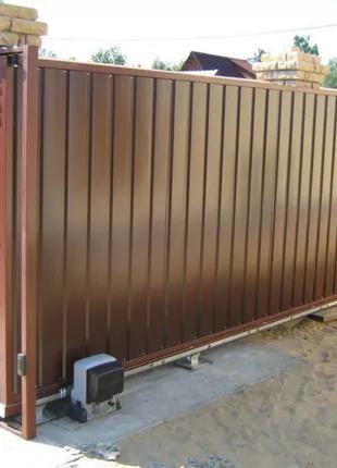 Откатные ворота с установкой под ключ в Запорожье