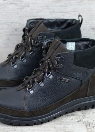 Зимние кожаные ботинки Zangak