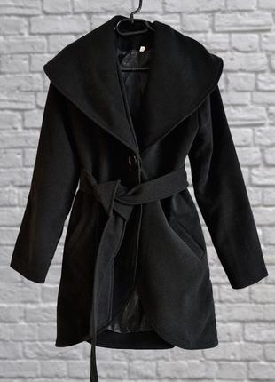 Базовое женское пальто весеннее, демисезон, ткань под кашемир