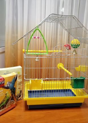 Клетка для птицы, попугая, канарейки