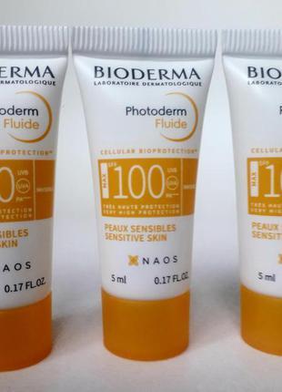 Солнцезащитный крем флюид биодерма спф 100 bioderma photoderm ...