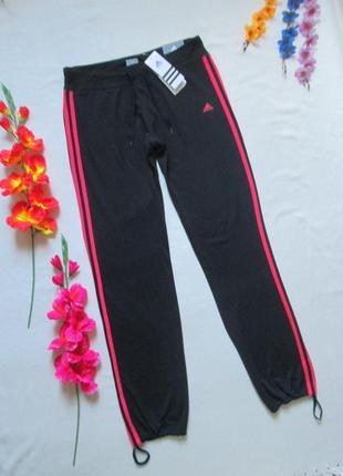 Фирменные спортивные стрейчевые брюки низ на затяжках adidas о...