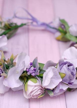 Венок веночек с цветами фиолетовый