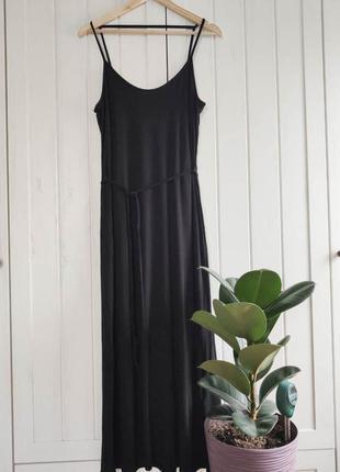 Черное платье на бретелях от new look, размер xl