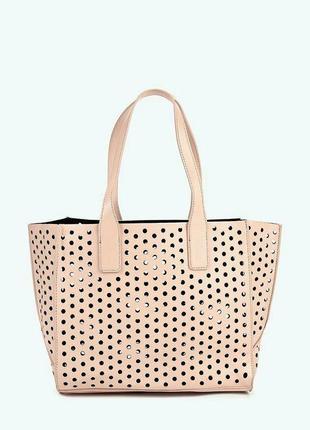 Oodji новая стильная сумка с перфорацией и вкладышем