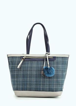 Новая стильная сумка шоппер на молнии от английского бренда ja...