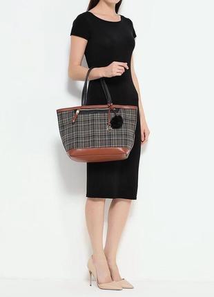 Новая сумка шоппер на молнии от английского бренда jane shilton