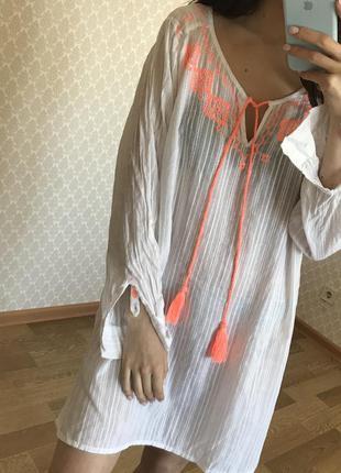 Пляжная туника / пляжное платье