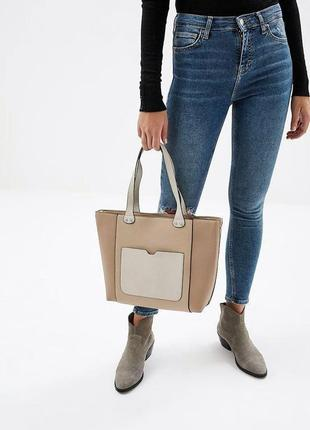 Dorothy perkins новая женская красивая сумка шоппер молния