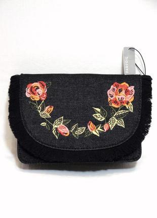 Parfois новая женская сумка с вышивкой кросс-боди через плечо