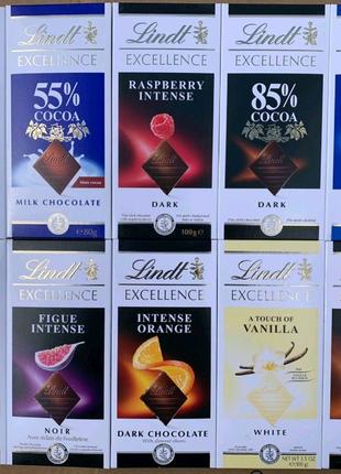 Шоколад Lindt , 100 г. одного вкуса