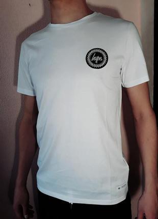 Футболка men белая с логотипом hype