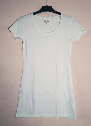 Футболка белая удлинённая, платье dolce bella