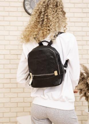 Маленький рюкзак из эко-кожи цвет черный