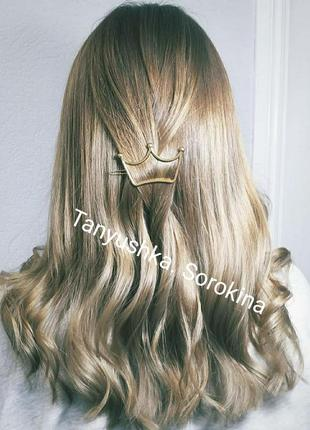 Идеальная заколка для волос метал минимализм
