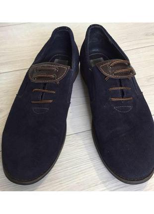 Мужские туфли, темно синие туфли.