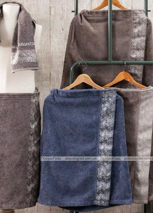 Чоловічий набір рушників Pupilla Flor для сауни: рушник на липучц