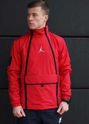 Ветровка / вітровка air jordan tech jacket in red(красная)