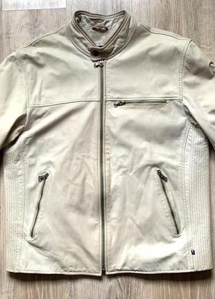 Мужская классическая кожаная куртка tommy hilfiger