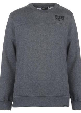 Теплый мужской свитер свитшот everlast на флисовой подкладке