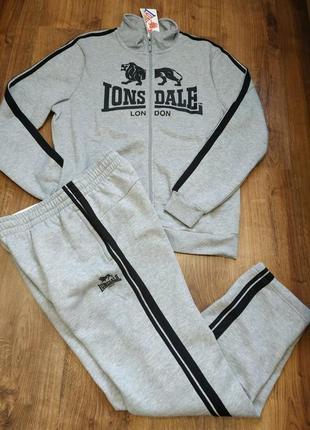 Теплый спортивный костюм на флисе лонсдейл оригинал lonsdale