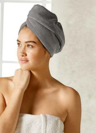 Полотенце-чалма тюрбан для сушки волос miomare. германия