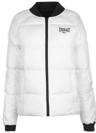 Теплая женская двостороння куртка everlast оригинал еверласт