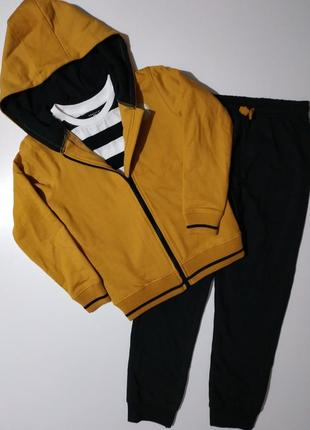 Теплий спортивний костюм трійка на флісі crafted. оригінал