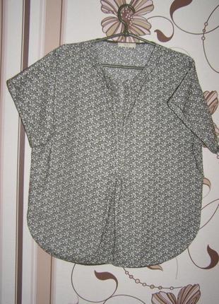 Блуза свободного кроя с набивним рисунком sonia de nisco, итал...