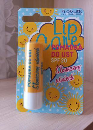 Защитный бальзам для губ с spf 20 floslek, 3,6 г