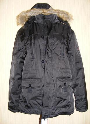 Куртка мужская зимняя на меху на рос 175, вес 75-80 кг
