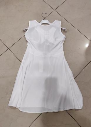 Ликвидация товара 🔥   белое мини платье с открытой спиной и эл...