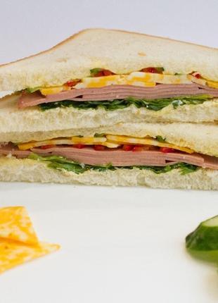 """Сендвичи """"Десткие"""" с вареной колбасой для кофейни оптом"""