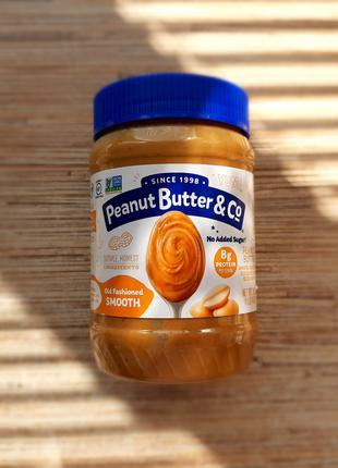 Peanut Butter & Co. , Арахисовая паста, нежная, соль арахис, США