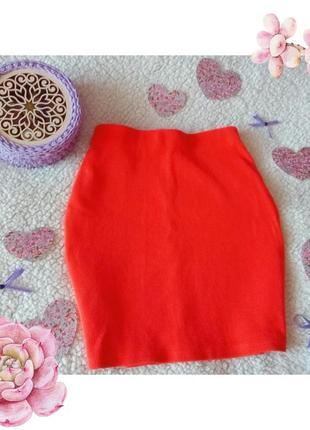 Стильная оранжевая юбка new look