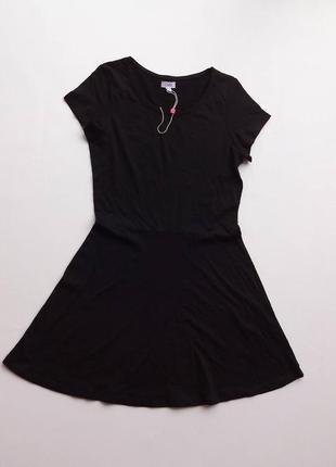 Ovs. италия. трикотажное базовое платье 152 размер.
