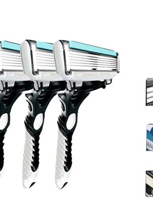 Станки одноразовые Dorco Pace 6 по 3 штуки набор для бритья преми