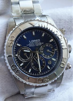 Мужские часы Loreo Oyster Perpetual 200m Automatic Sapphire Новые
