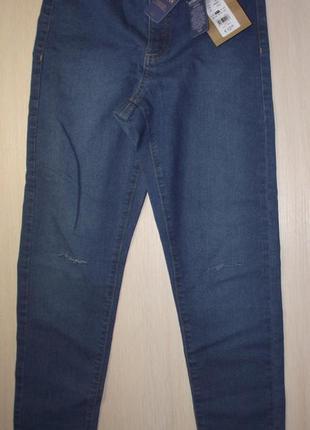 Стильные джинсы high waist fit от denim 72d kids на девочку 10...