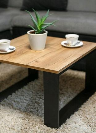 Журнальный стол в стиле лофт, кофейный столик современный модерн