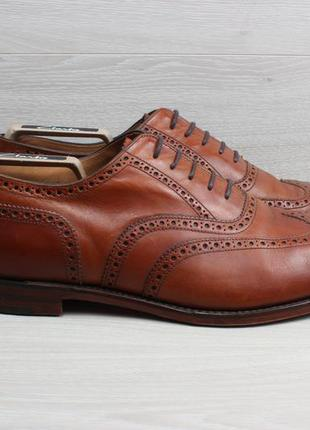 Кожаные туфли / броги loake england, размер 46 - 47 (ручная ра...