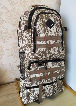 Рюкзак тактический 55 l туристический армейский штурмовой воен...