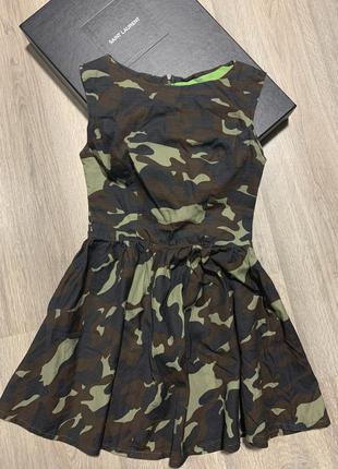 Платье камуфляж