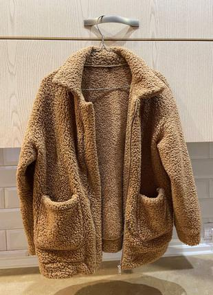 Кофта (куртка) из овчины коричневая