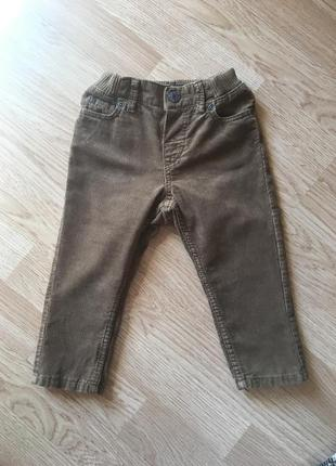 Вельветовые штаны, брюки для мальчика h&m, размер 9-12м, 80