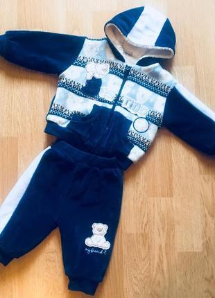 Велюровый теплый костюм на травке bestido, турция, размер 62