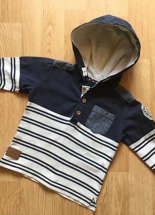 Кофта с капюшоном, реглан для мальчика rebel, размер 2-3 года,...