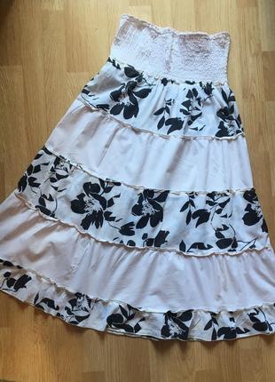 Легкая летняя женская юбка, размер м-л