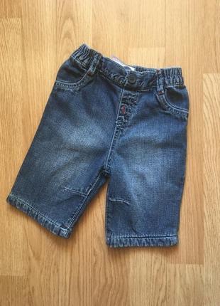 Фирменные джинсы для малыша на х/б подкладке next, р. 1-3 месяца