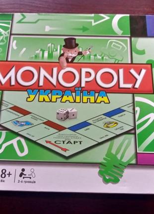 Настольная экономическая игра Монополия Украина 6123UA укр язык